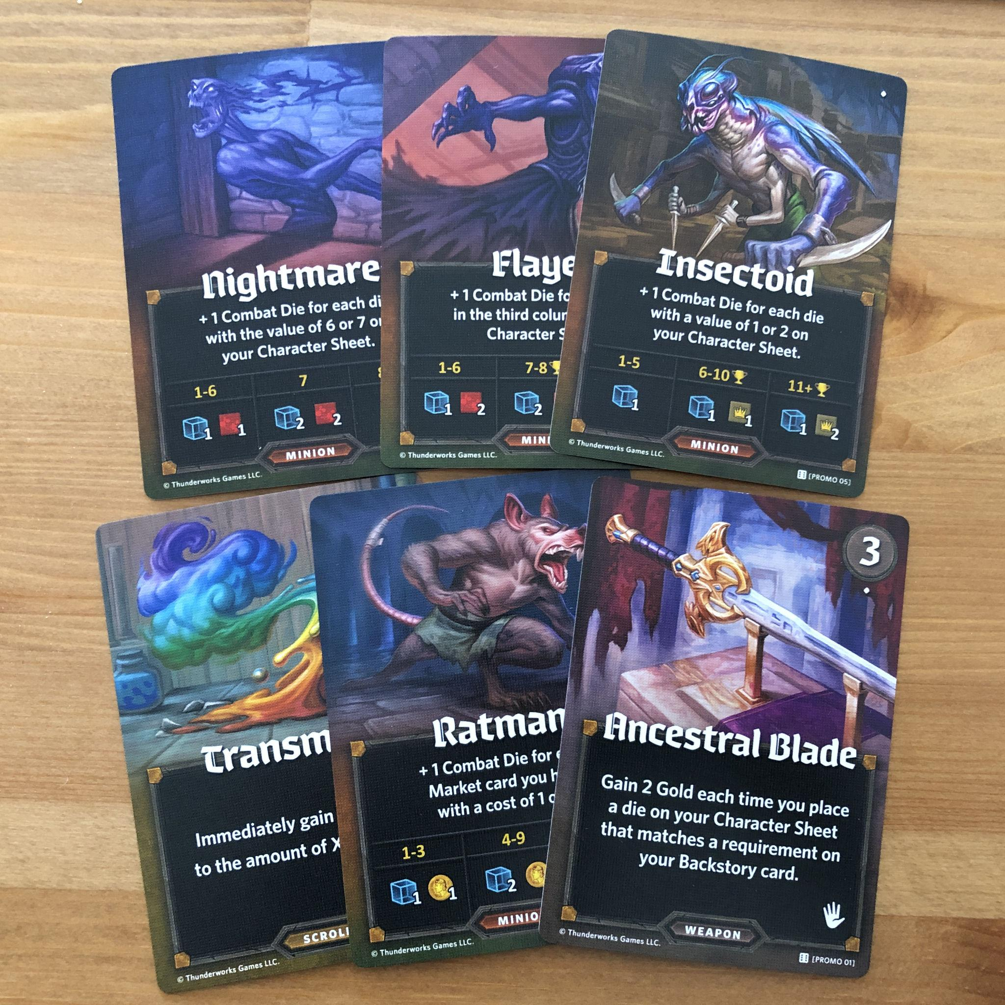 My Roll Player Promo cards finally came!